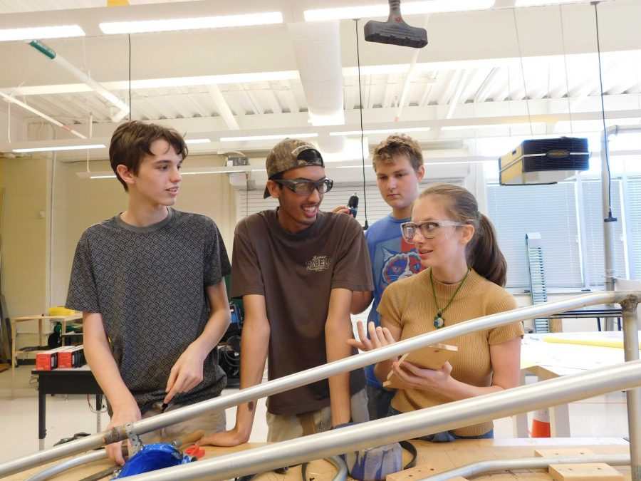 Left to right: Ian Relinger, Blair Varney, Alex Blake, and Joshua Adhikary