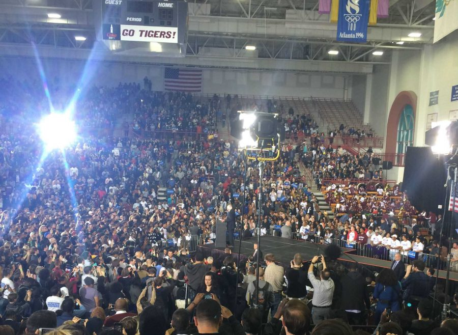 The+view+from+a+Bernie+Sanders+rally.+Courtesy+of+Asia+Mitchell