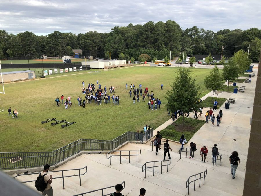 Student Athletes Support Coach Mattair With Brief Peaceful Protest