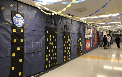 Freshmen hallway decorations. Photo by Oliver Hurst.