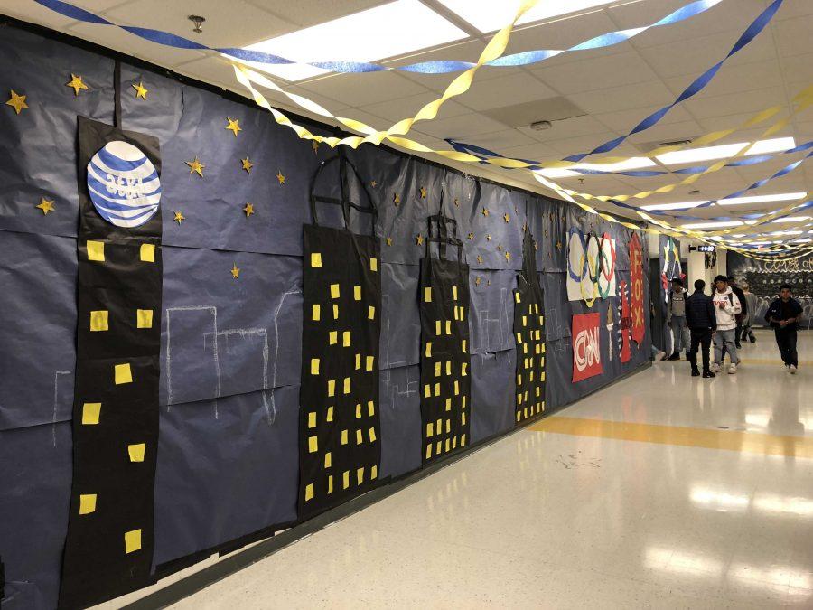 Freshmen hallway decorations. Photo by Oliver Hurst.