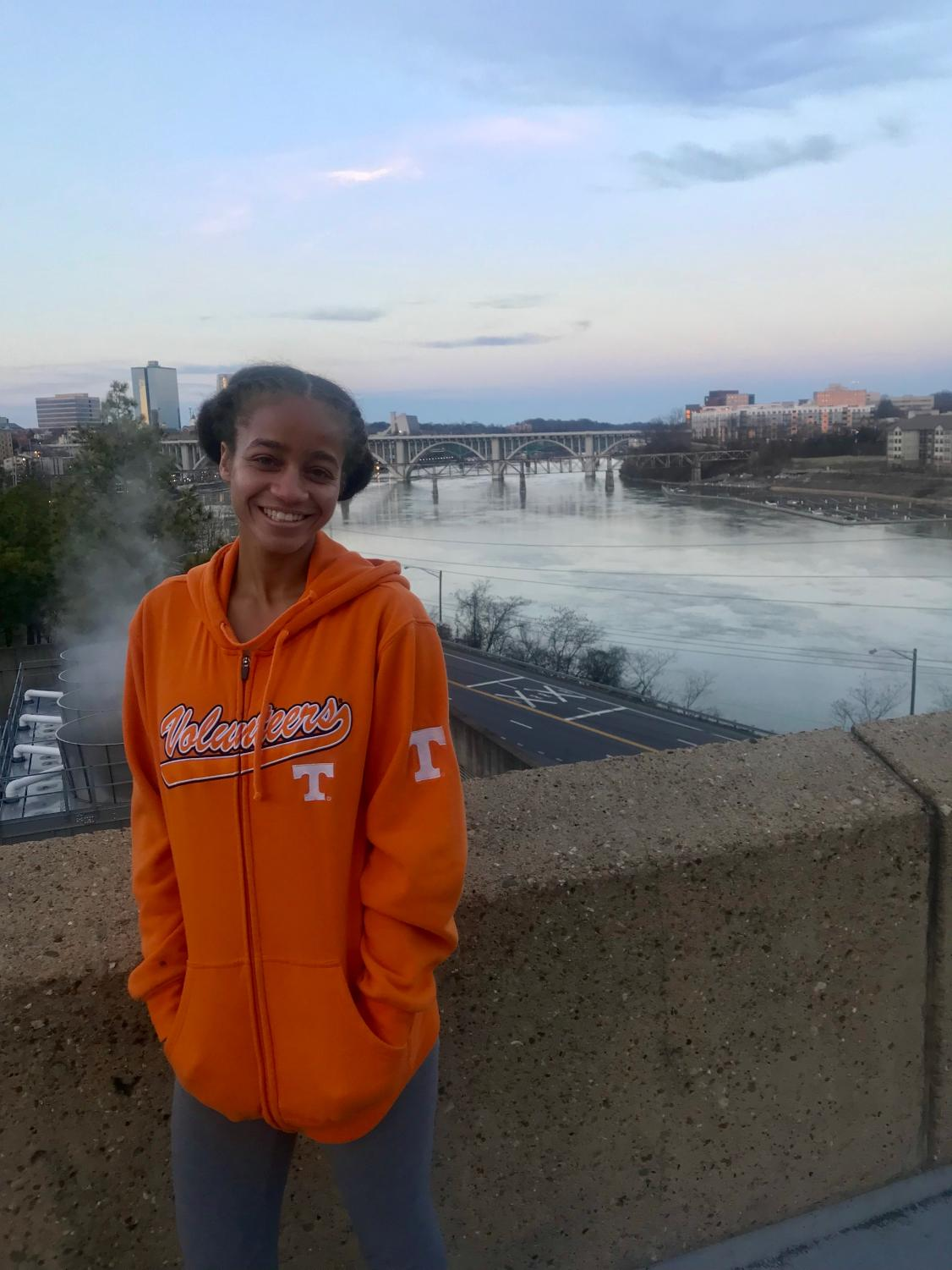Washington showing her Volunteers pride in Knoxville, Tennessee.