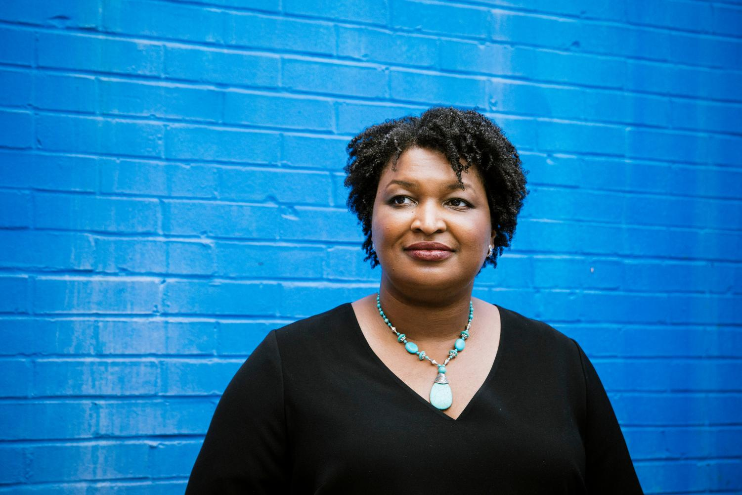 Stacey Abrams after a campaign stop in Rome, Ga., May 16, 2018.