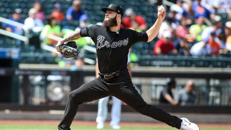 Braves+pitcher+Dallas+Keuchel+has+a+great+game+against+the+Mets.