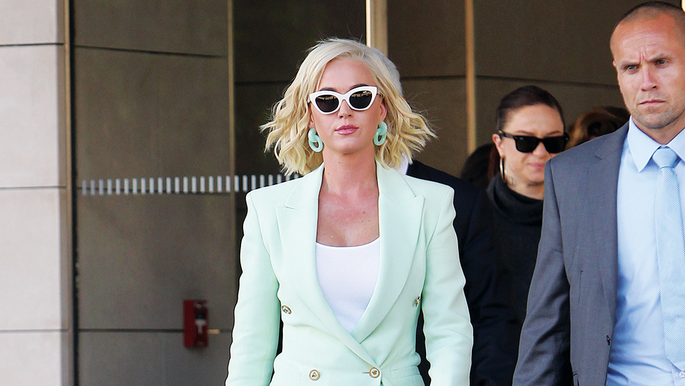 Katy Perry leaves Los Angeles Federal Courthouse after a lawsuit with rapper Flame earlier this year.