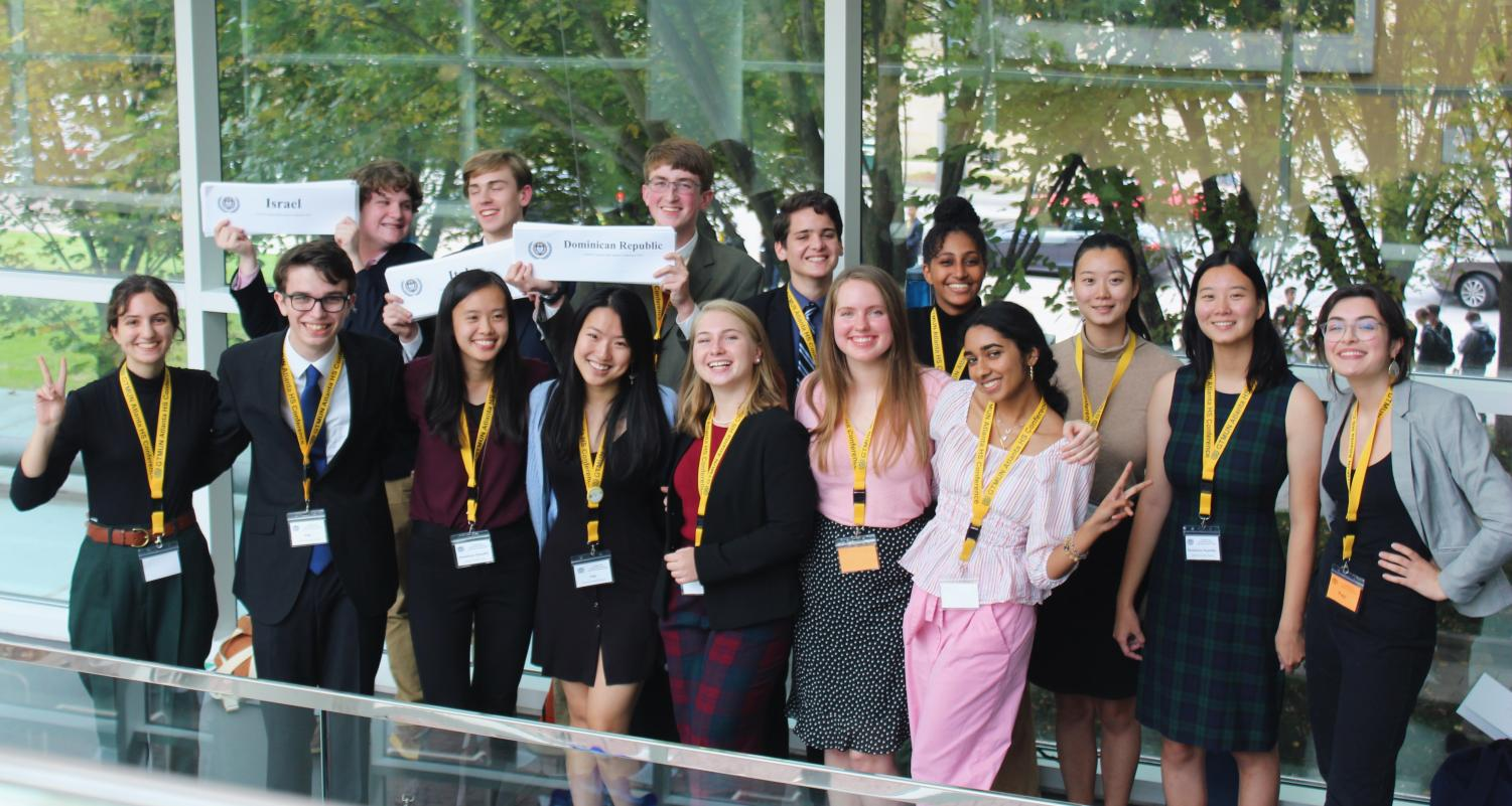 Chamblee's Model UN team poses after a successful conference at Georgia Tech.