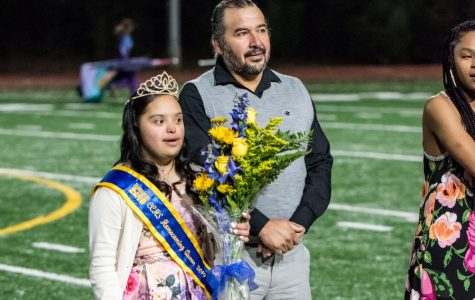 Homecoming Queen Dulce Ruiz is crowned.
