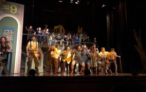 Musical Theater students performing in last year's musical, 'Urinetown.'