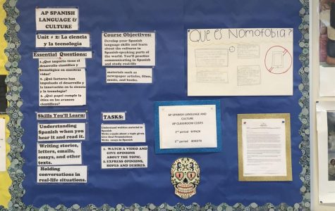 An image of the AP Spanish bulletin board.
