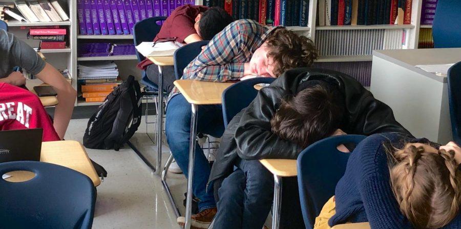 Chamblee students succumb to a deep slumber.