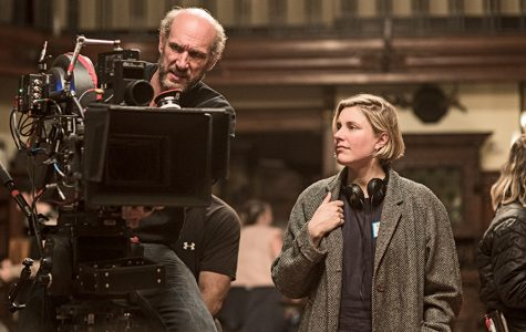 Director Greta Gerwig behind the scenes on the set of her film, Little Women.