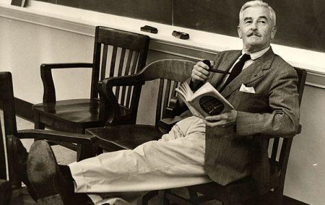 Faulkner chillin' with a book.