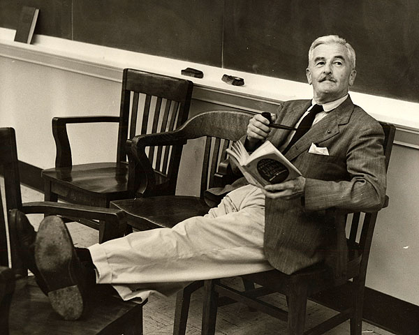 Faulkner chillin' with a book.