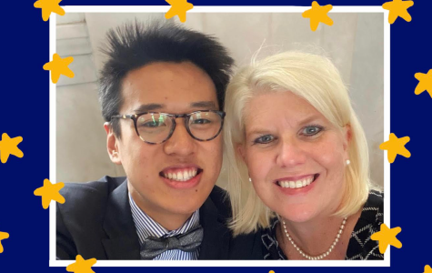 STAR student Ethan Shi and his teacher Dr. Holly Isserstedt smile for the camera.