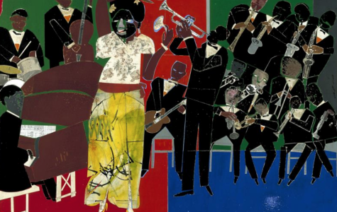 Empress of The Blues, by Romare Bearden, (1974).