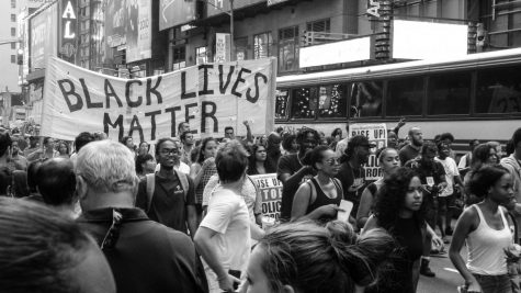 A Black Lives Matter demonstration is in full force on the streets of New York.