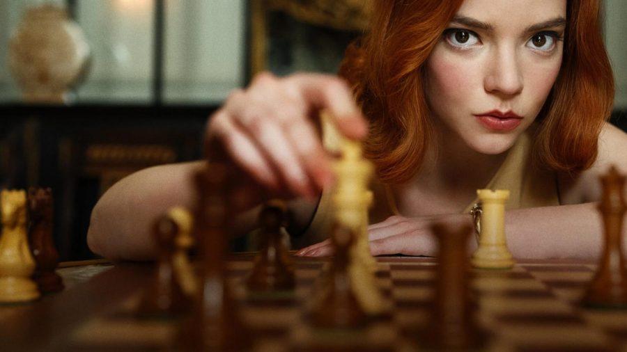 Actress Anya Taylor-Joy as Beth Harmon in Netflix's critically-acclaimed series,