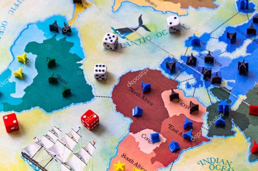 Risk, the strategy board game.