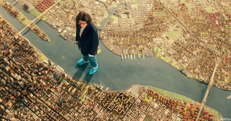 Lebowitz surveys her domain in miniature at the Queens Museum