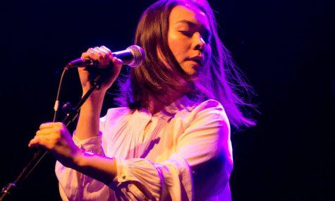 Mitski Miyawaki, known by her stage name Mitski, performs with fervor.