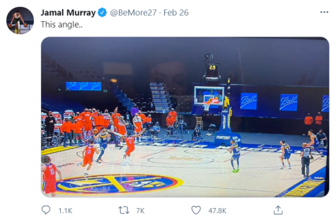 Nuggets guard Jamal Murray's tweet after catastrophic loss to Wizards