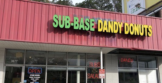 Dandy Donuts, a local Chamblee restaurant and donut shop.