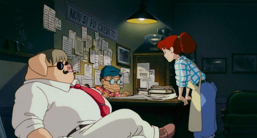 A screencap of Hayao Miyazakis Porco Rosso.