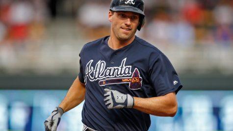 Jeff Francoeur playing for the Atlanta Braves